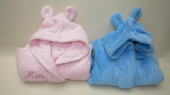 Baby Bow Fleece Robe