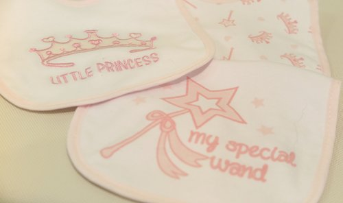 Baby Girl Bibs, Pack of 3