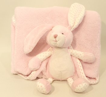 Bunny Baby Blanket Pink