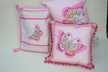 Oblong Butterfly Cushion