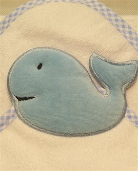 Whale hooded towel - toddler