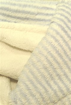 Blue / White Stripe Fluffy Blanket